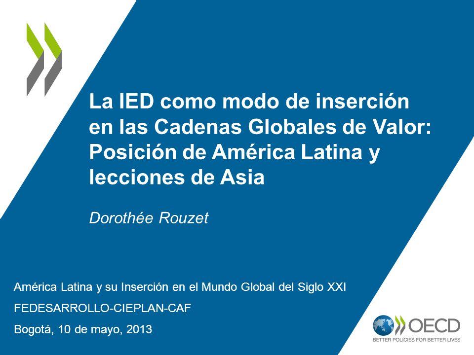 La IED como modo de inserción en las Cadenas Globales de Valor: Posición de América Latina y lecciones de Asia Dorothée Rouzet