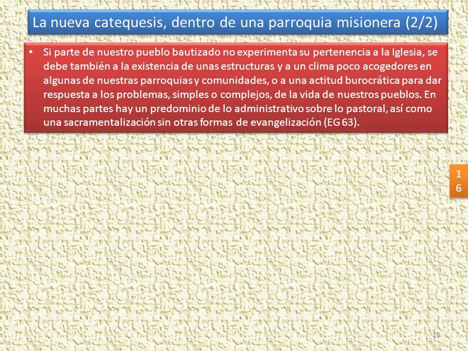 La nueva catequesis, dentro de una parroquia misionera (2/2)