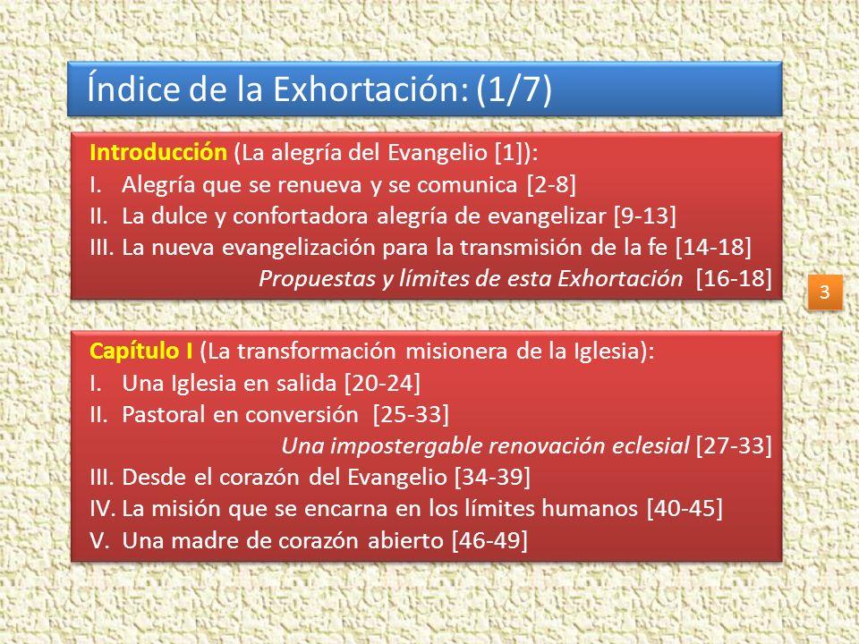 Índice de la Exhortación: (1/7)