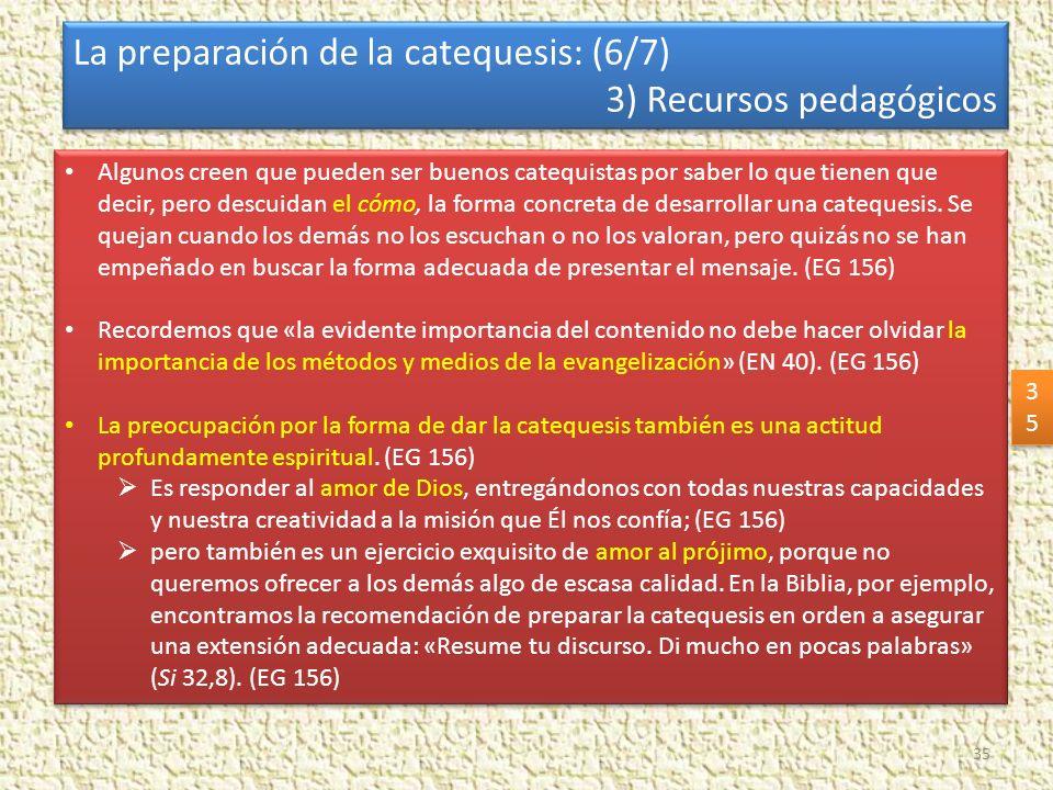 La preparación de la catequesis: (6/7) 3) Recursos pedagógicos