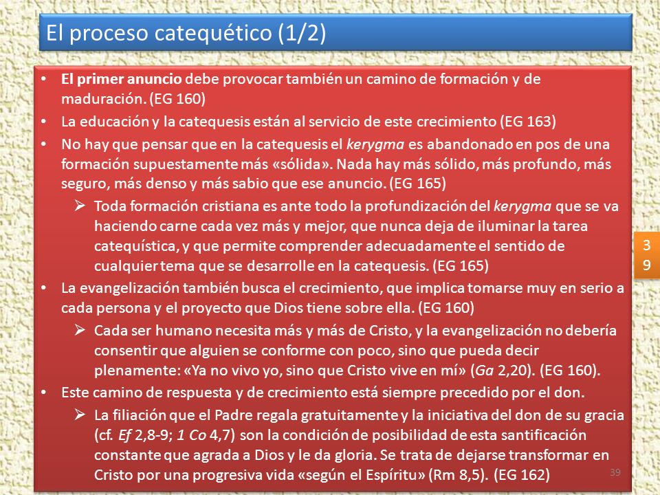 El proceso catequético (1/2)