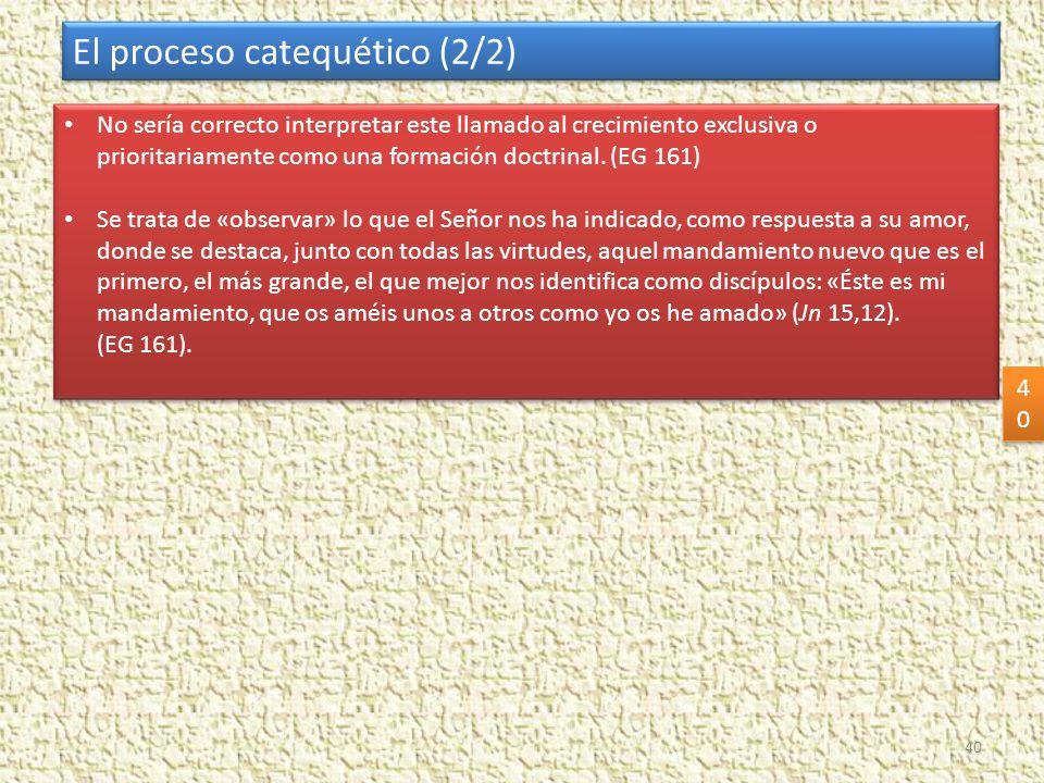 El proceso catequético (2/2)