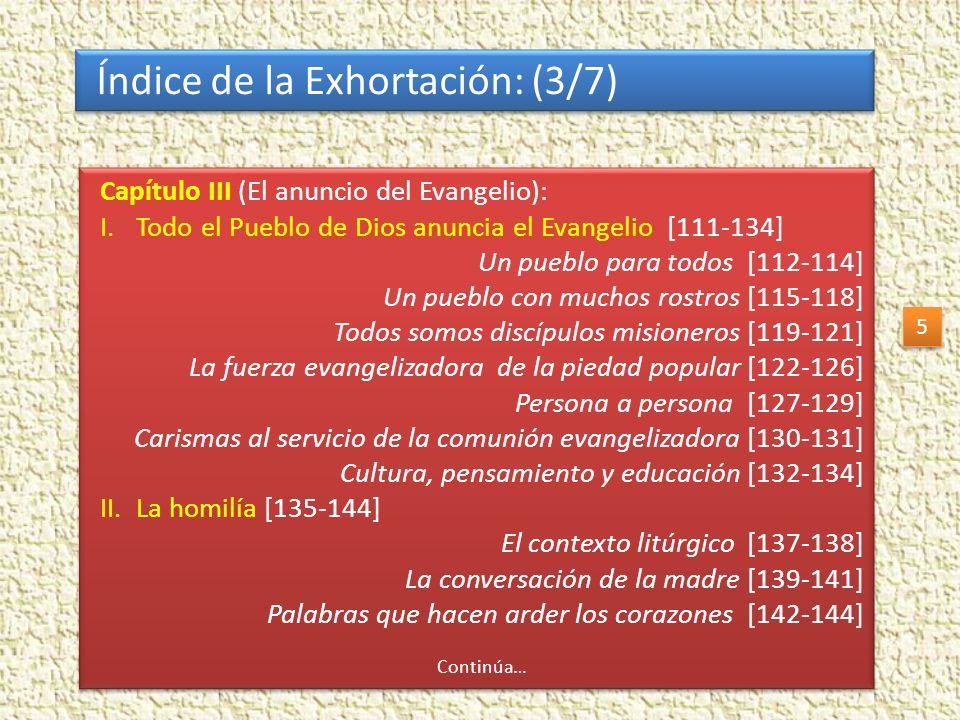 Índice de la Exhortación: (3/7)