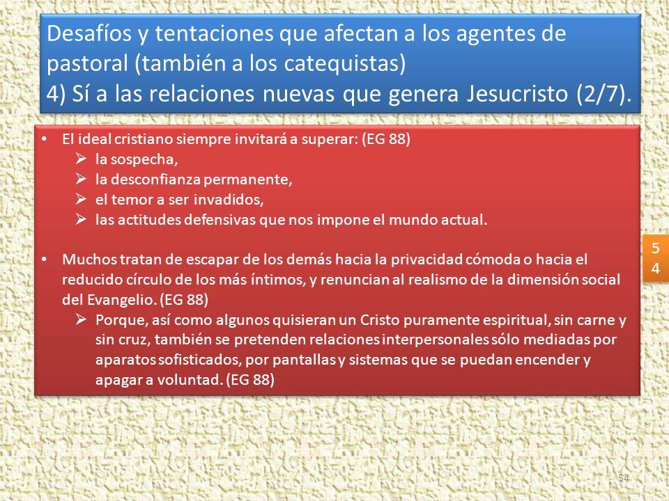 4) Sí a las relaciones nuevas que genera Jesucristo (2/7).