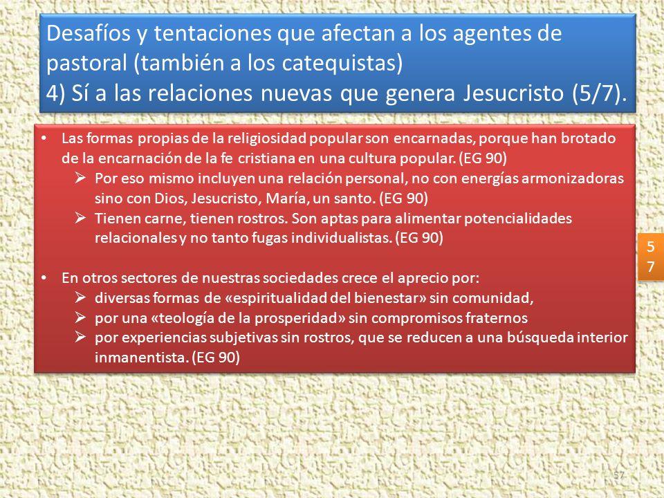 4) Sí a las relaciones nuevas que genera Jesucristo (5/7).