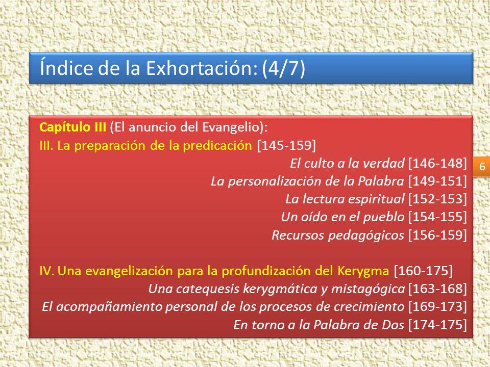 Índice de la Exhortación: (4/7)