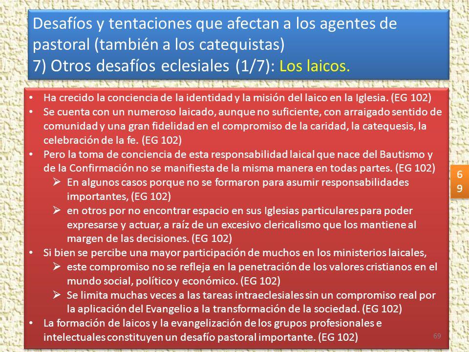 7) Otros desafíos eclesiales (1/7): Los laicos.