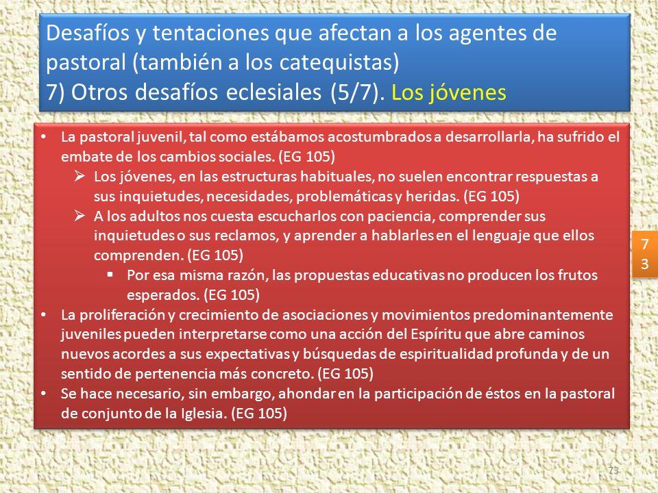 7) Otros desafíos eclesiales (5/7). Los jóvenes