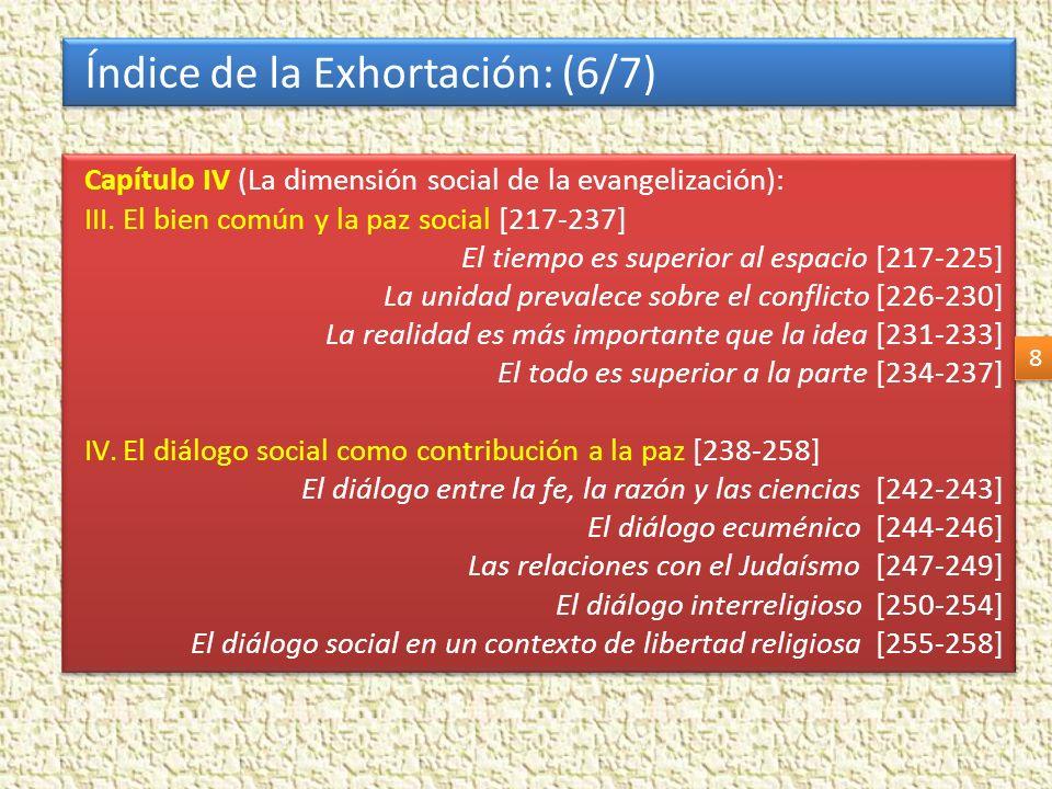 Índice de la Exhortación: (6/7)