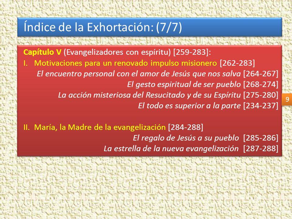 Índice de la Exhortación: (7/7)