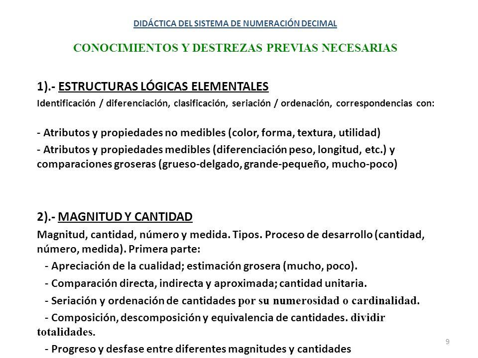 1).- ESTRUCTURAS LÓGICAS ELEMENTALES