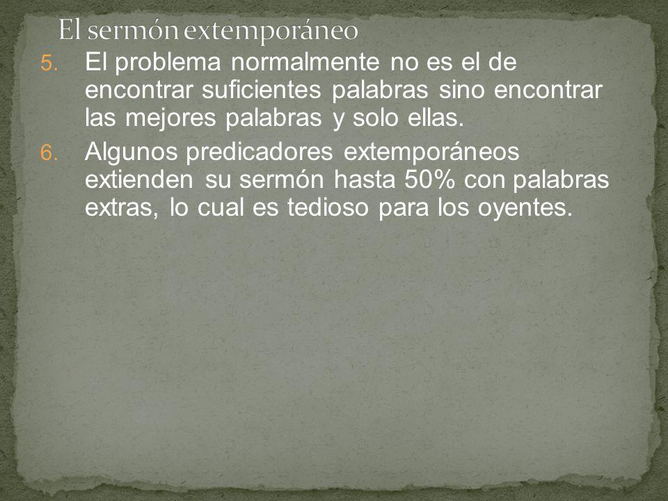 El sermón extemporáneo