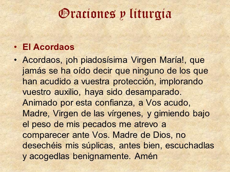Oraciones y liturgia El Acordaos