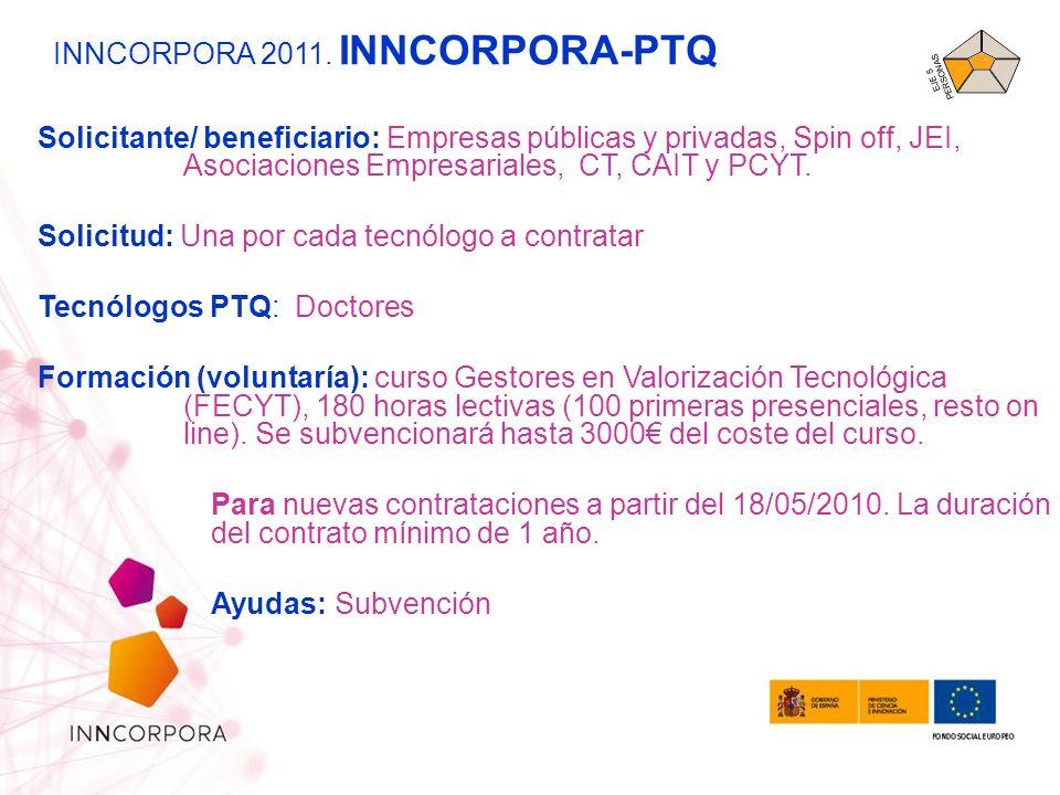 INNCORPORA 2011. INNCORPORA-PTQ