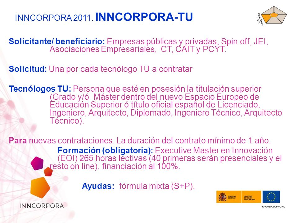 INNCORPORA 2011. INNCORPORA-TU