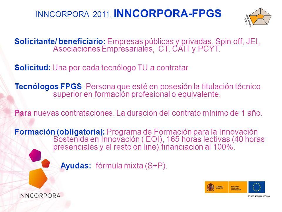 INNCORPORA 2011. INNCORPORA-FPGS