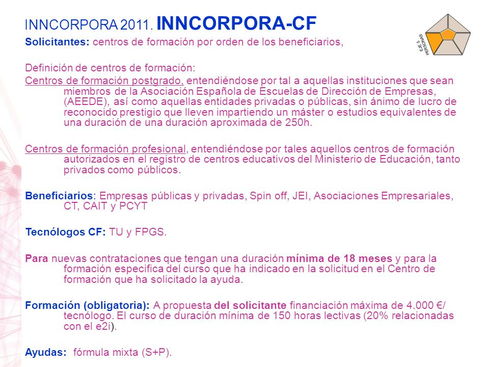 INNCORPORA 2011. INNCORPORA-CF
