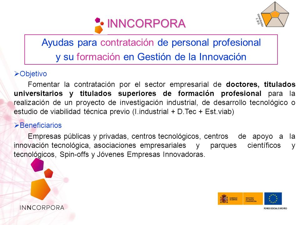 INNCORPORA Ayudas para contratación de personal profesional