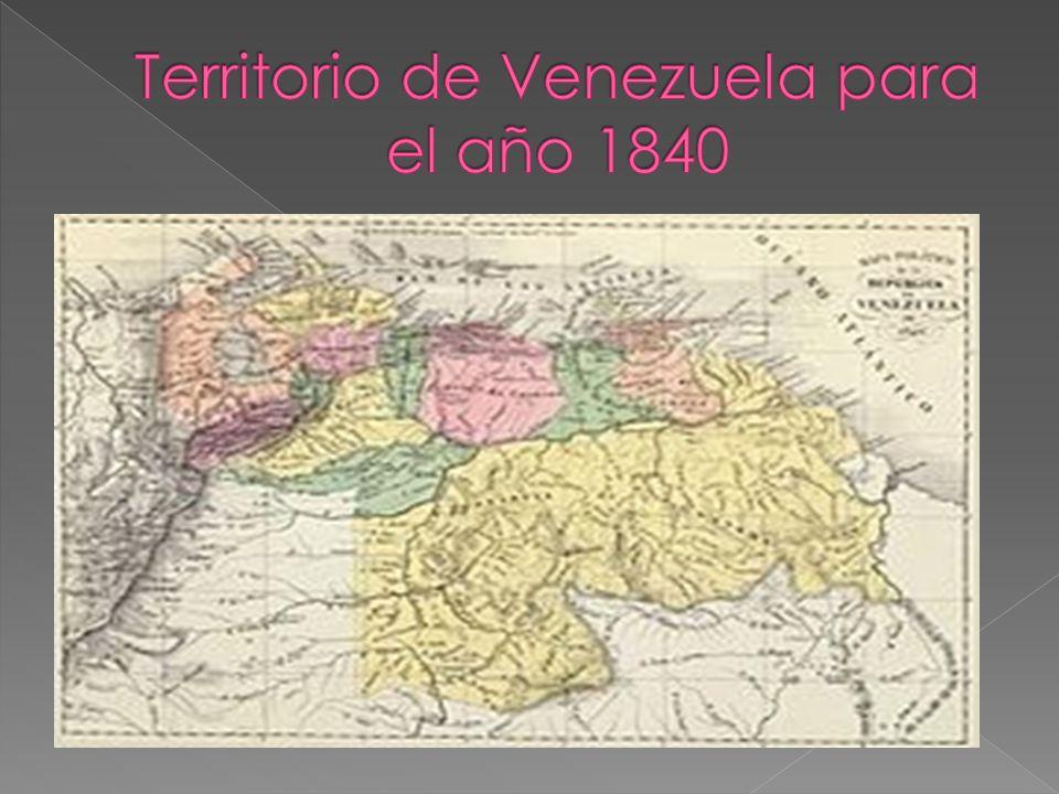 Territorio de Venezuela para el año 1840