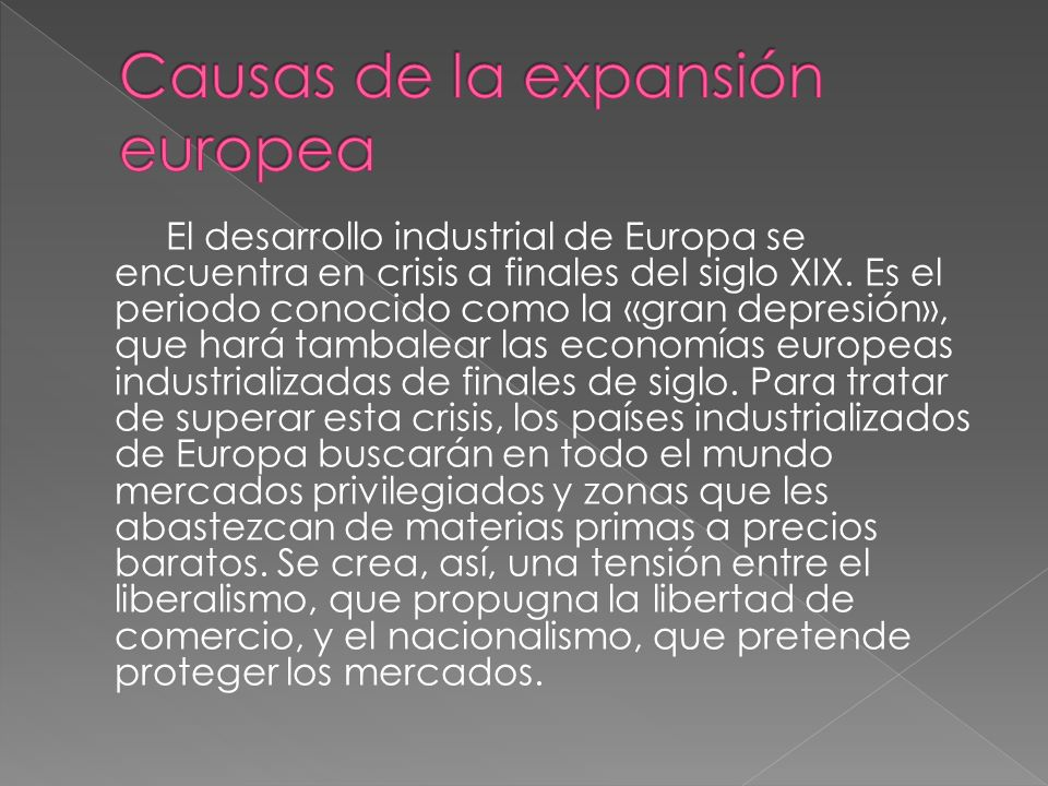 Causas de la expansión europea