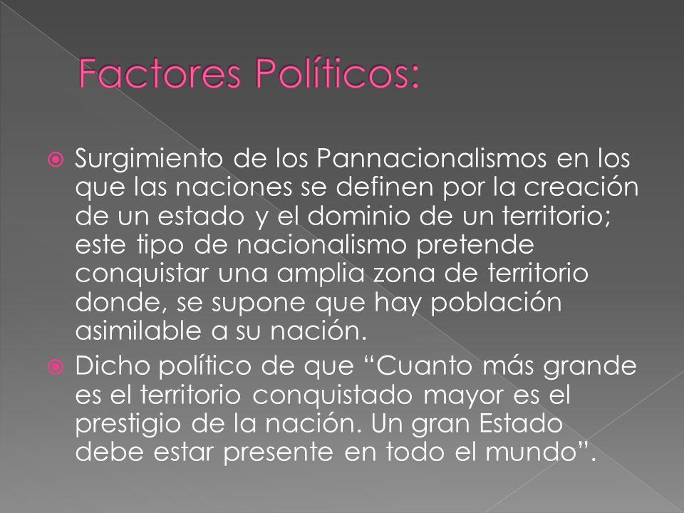 Factores Políticos:
