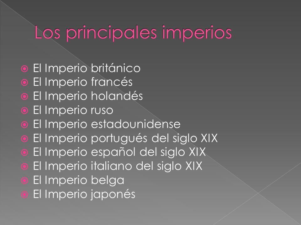 Los principales imperios