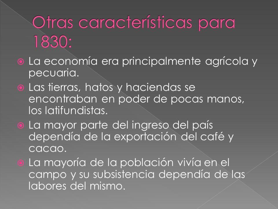 Otras características para 1830:
