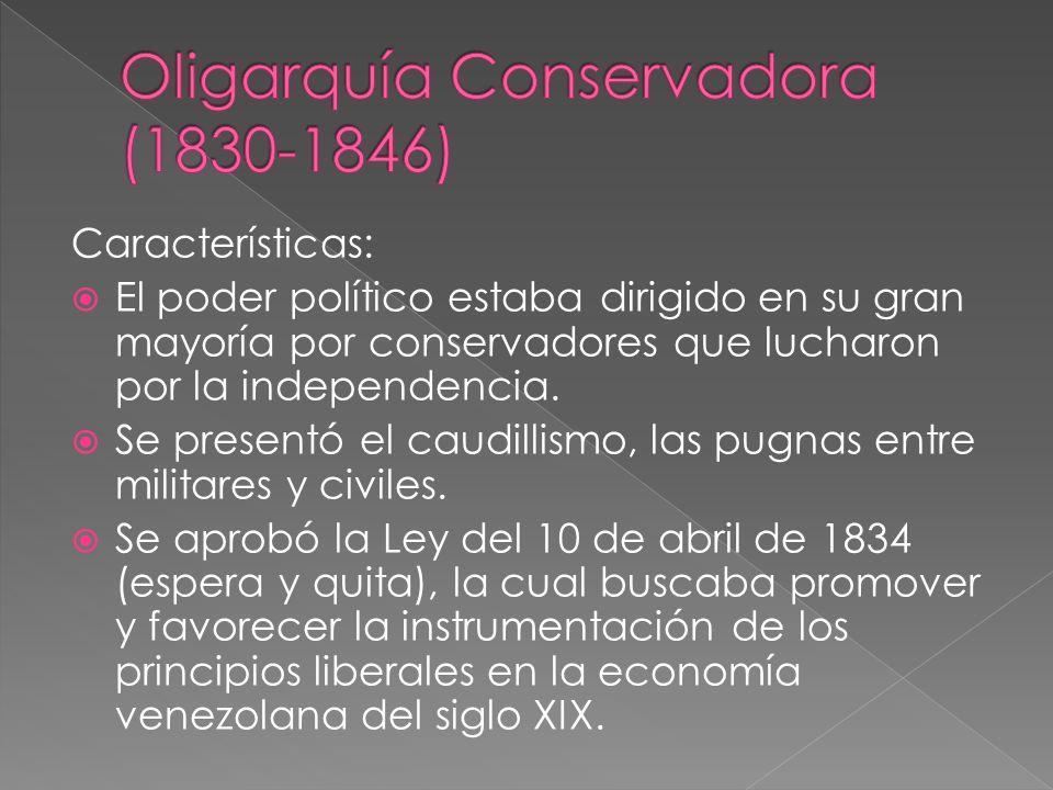 Oligarquía Conservadora (1830-1846)