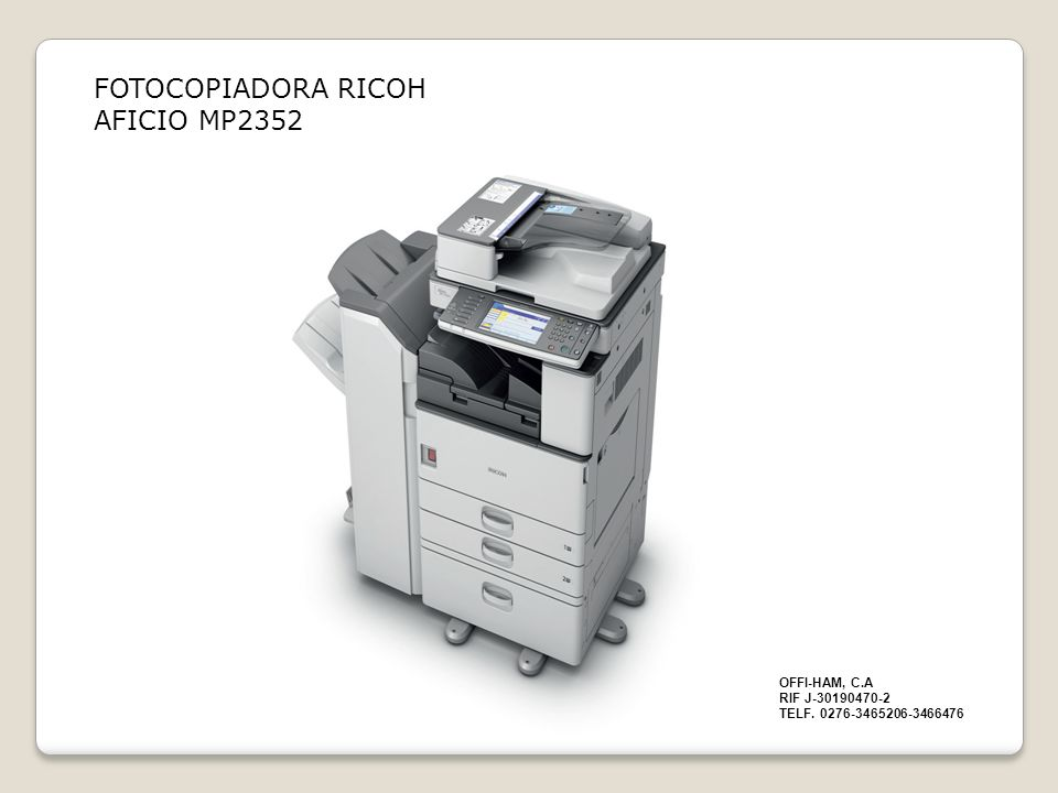 FOTOCOPIADORA RICOH AFICIO MP2352