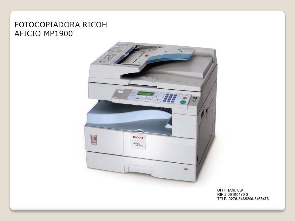 FOTOCOPIADORA RICOH AFICIO MP1900
