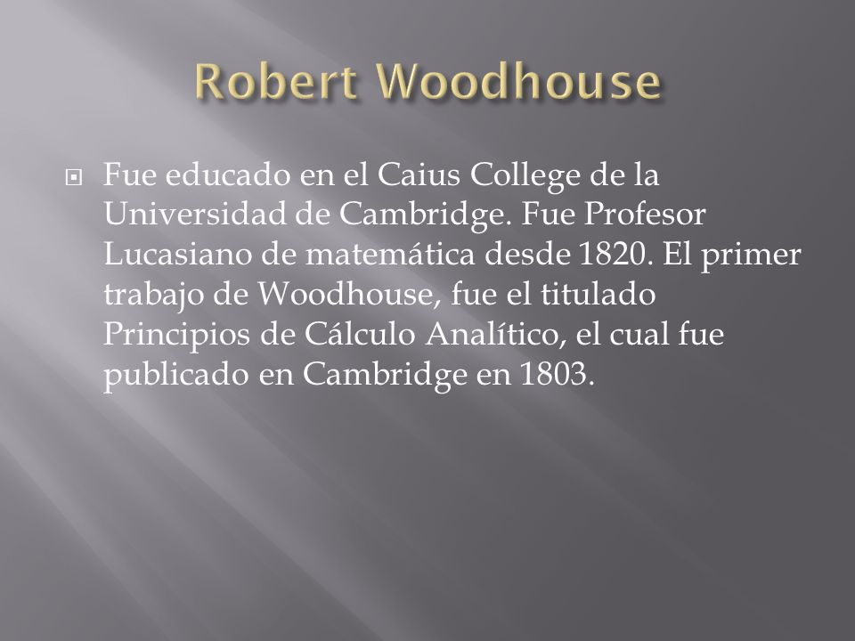 Robert Woodhouse