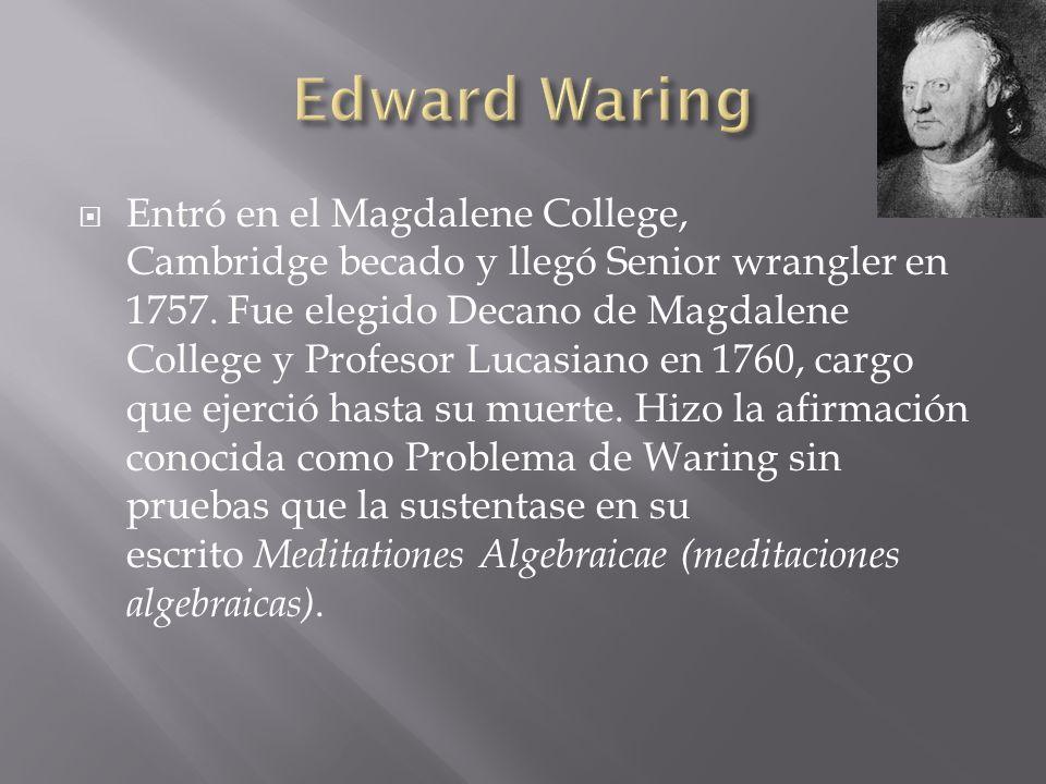 Edward Waring