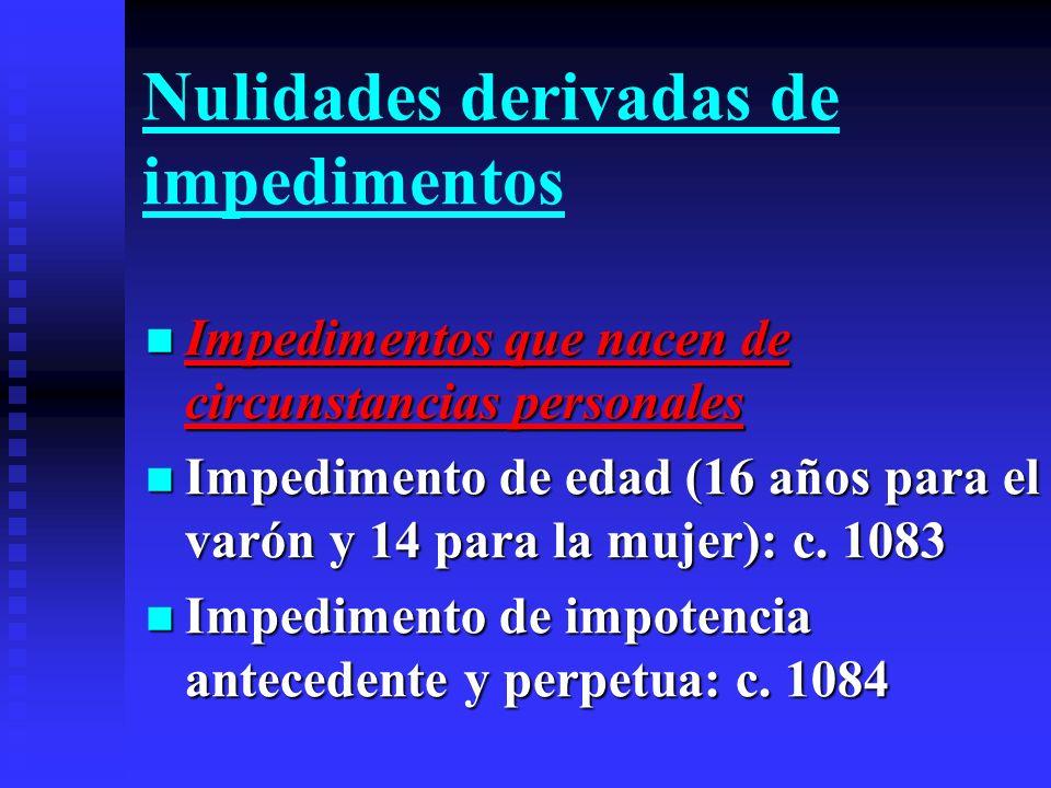Nulidades derivadas de impedimentos