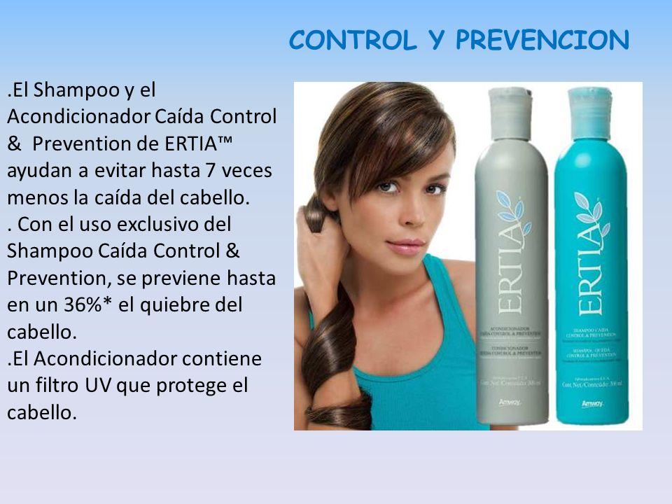 CONTROL Y PREVENCION .El Shampoo y el Acondicionador Caída Control & Prevention de ERTIA™ ayudan a evitar hasta 7 veces menos la caída del cabello.