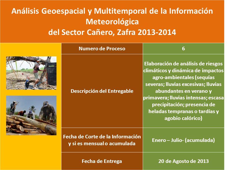 Análisis Geoespacial y Multitemporal de la Información Meteorológica del Sector Cañero, Zafra 2013-2014