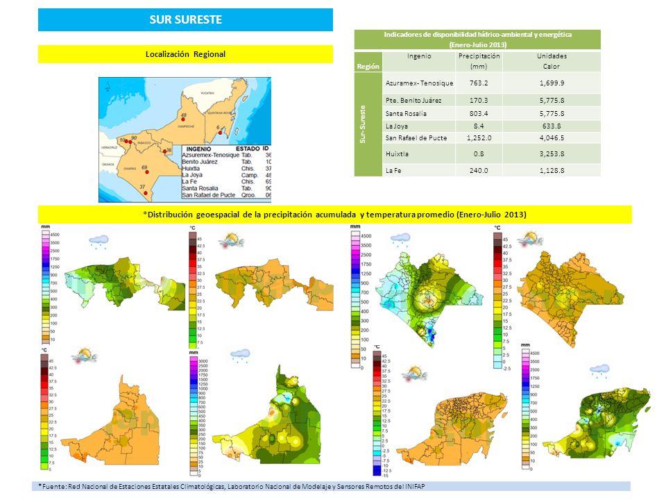 SUR SURESTE Localización Regional