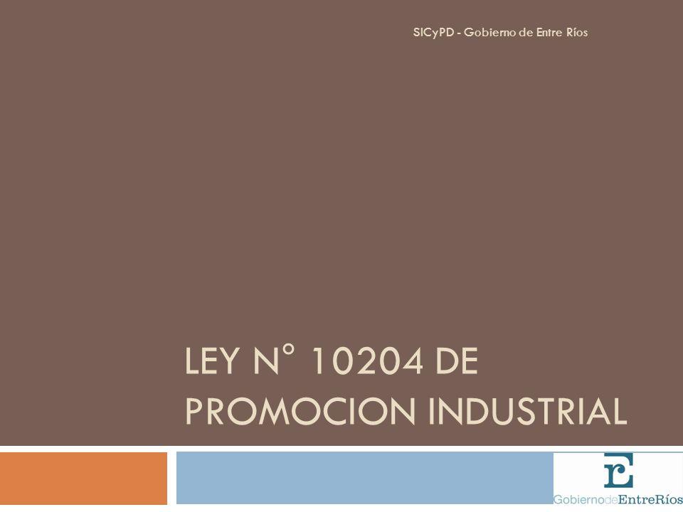 LEY N° 10204 DE PROMOCION INDUSTRIAL