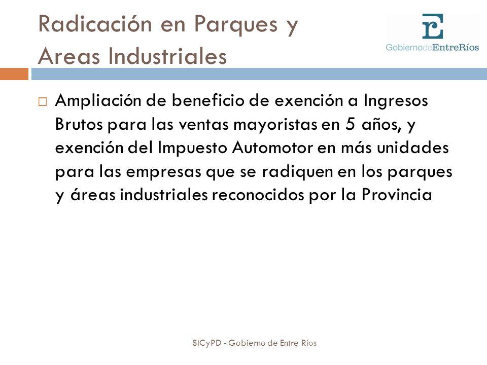 Radicación en Parques y Areas Industriales