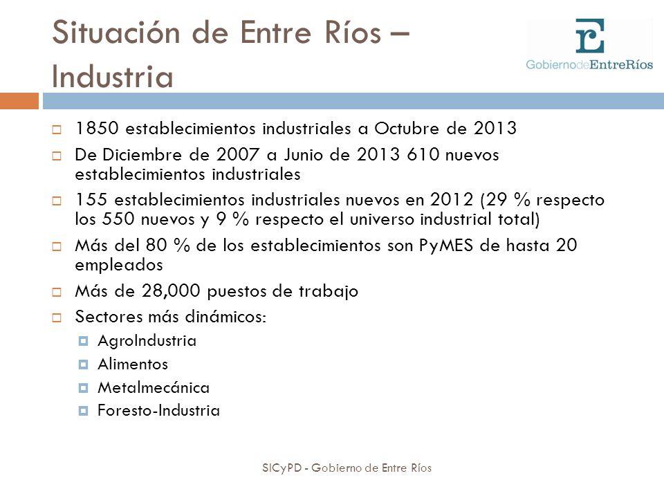 Situación de Entre Ríos – Industria