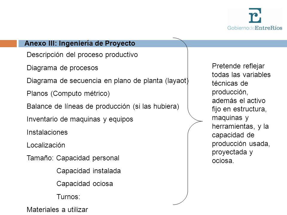 Anexo III: Ingeniería de Proyecto