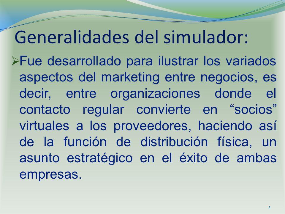 Generalidades del simulador: