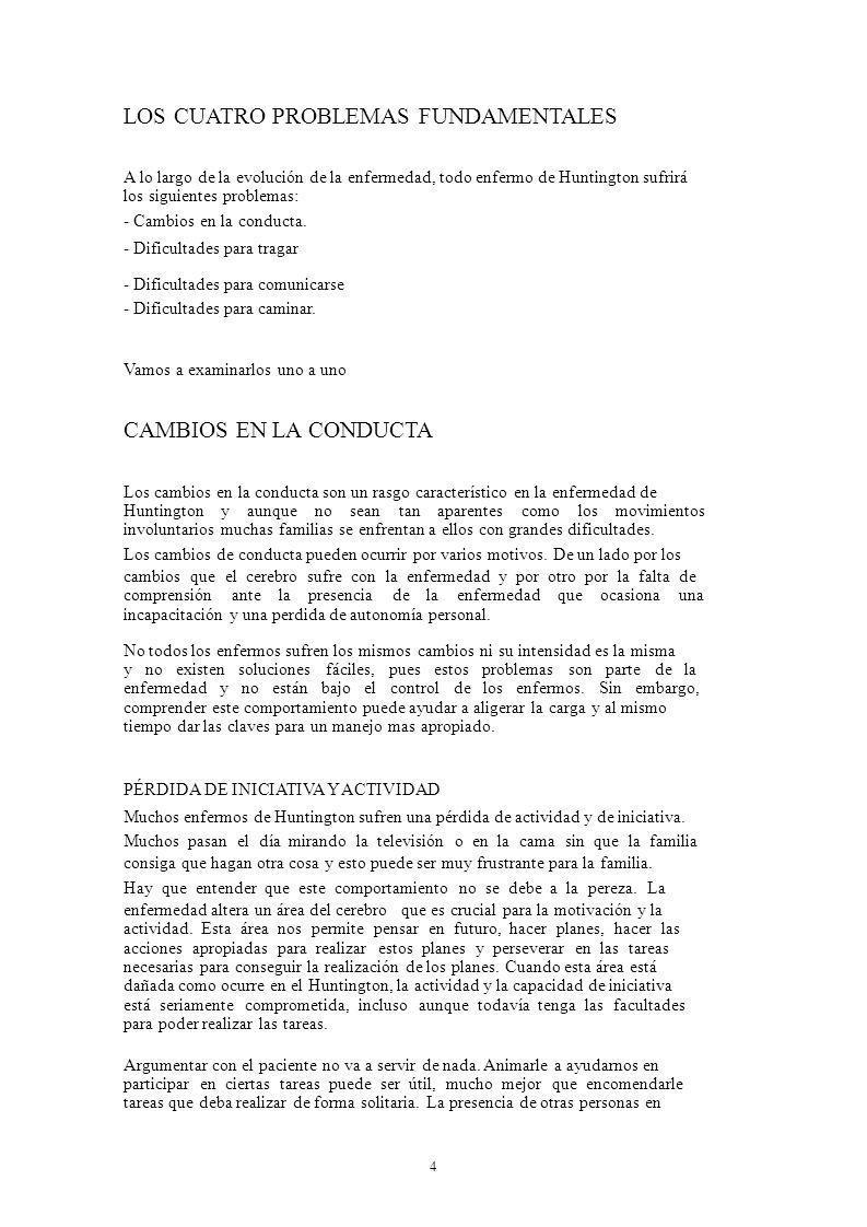 LOS CUATRO PROBLEMAS FUNDAMENTALES