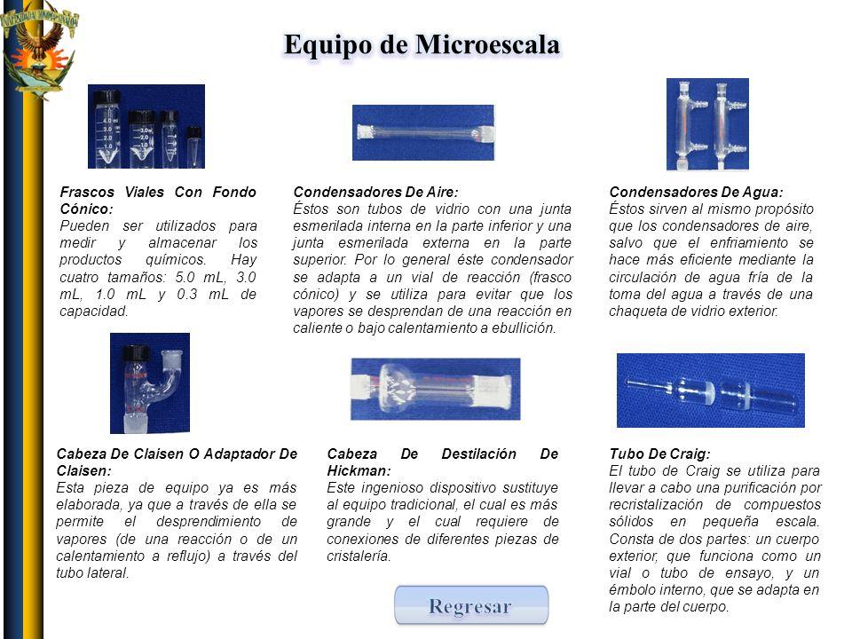 Equipo de Microescala Regresar Frascos Viales Con Fondo Cónico: