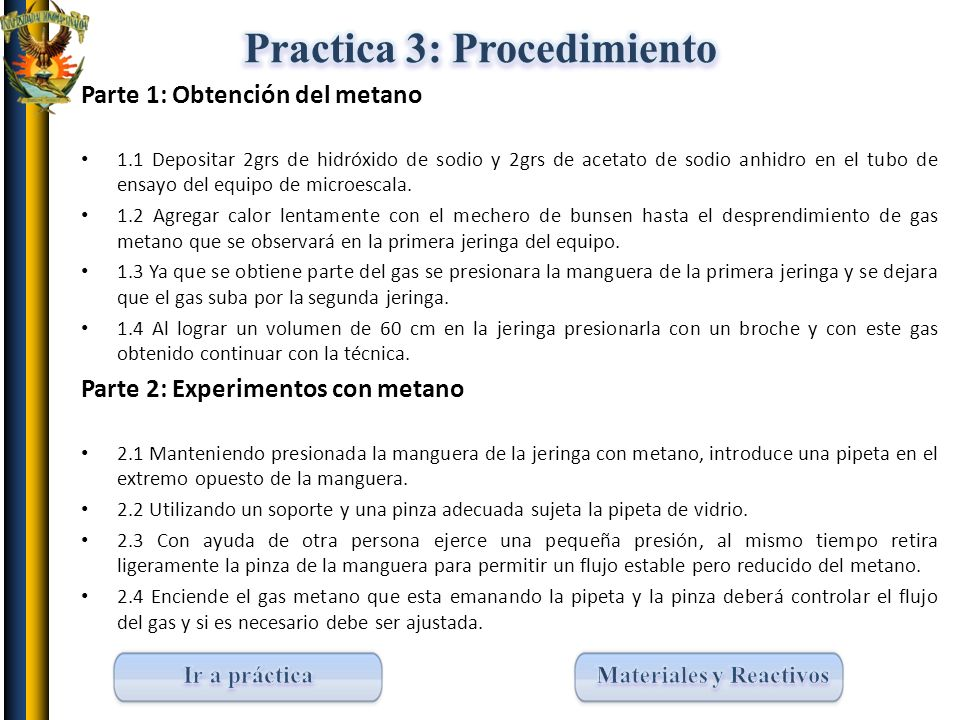 Practica 3: Procedimiento