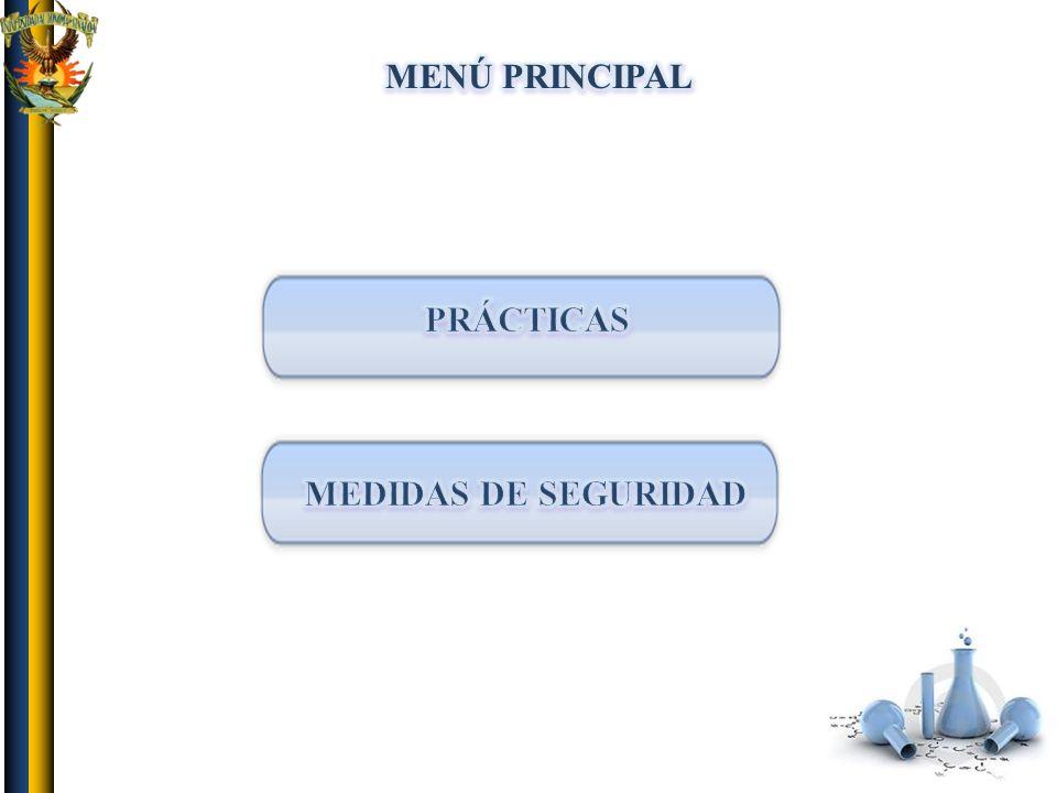 MENÚ PRINCIPAL PRÁCTICAS MEDIDAS DE SEGURIDAD