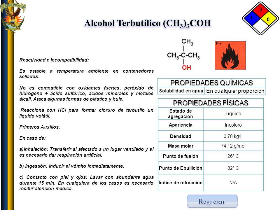 Alcohol Terbutílico (CH3)3COH