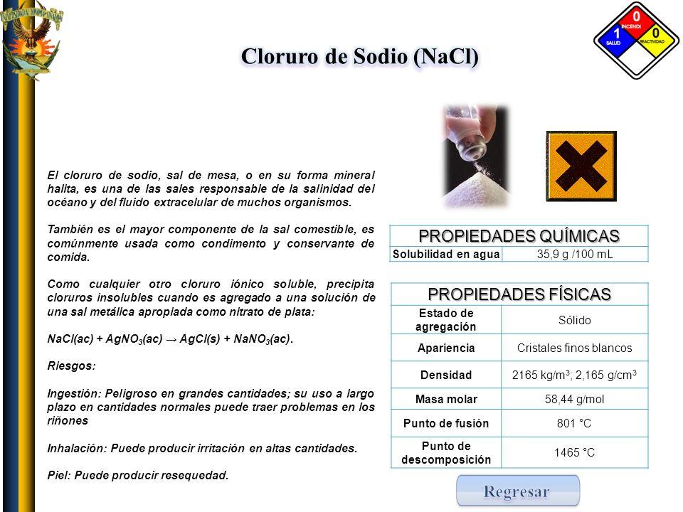 Cloruro de Sodio (NaCl) Punto de descomposición