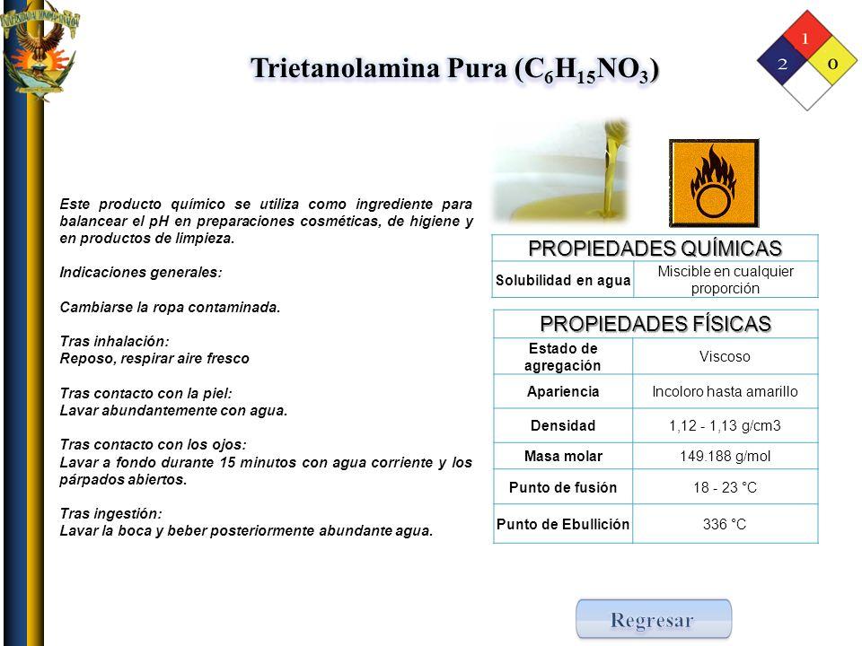 Trietanolamina Pura (C6H15NO3)