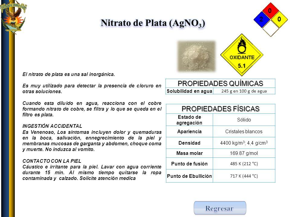 Nitrato de Plata (AgNO3)