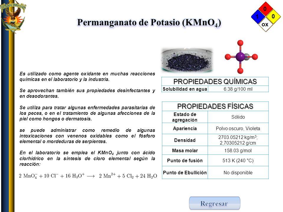 Permanganato de Potasio (KMnO4)